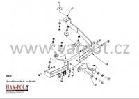 Tažné zařízení HAK-POL RENAULT Grand Espace J66/JE, r.v. 01/1998-10/2002 - pevné