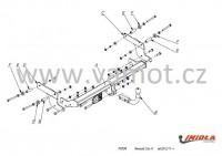 Tažné zařízení HAK-POL RENAULT Clio IV HTB, r.v. 11/12-xx - pevné