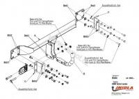 Tažné zařízení HAK-POL BMW 5-SERIES E 60 (kromě M-5), r.v. 03-02/10 - pevné