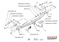 Tažné zařízení HAK-POL FORD Focus II combi, r.v. 2005 - 2011 - pevné