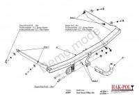 Tažné zařízení HAK-POL FORD Focus C-MAX, r.v. 04-xx - pevné
