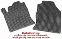 Gumové koberce Škoda Fabia I - přední koberce, 2 dílná sada