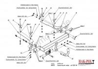 Tažné zařízení HAK-POL HONDA Accord Sedan, r.v. 12/02-08 - pevné