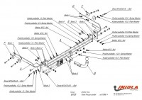 Tažné zařízení HAK-POL Ford Focus combi, r.v. 98-05 - pevné