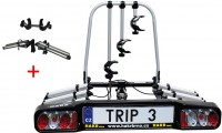 Nosič kol HAKR Trip 3+1 Middle + SPZ a 4x reflexní náramek zdarma