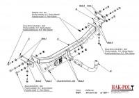 Tažné zařízení HAK-POL HUNDAI i30 HTB, r.v. 06-10/11 - pevné