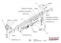 Tažné zařízení HAK-POL PEUGEOT 307 SW combi, r.v. 01-xx - pevné