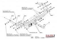 Tažné zařízení HAK-POL RENAULT Clio II, r.v. 98-09/04 - pevné