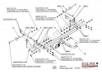 Tažné zařízení HAK-POL RENAULT Laguna II combi, r.v. 01-07 - pevné