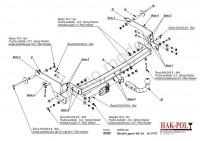 Tažné zařízení HAK-POL RENAULT Laguna II HB 5D, r.v. 01-07 - pevné