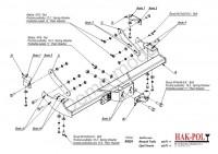 Tažné zařízení HAK-POL OPEL Vivaro, r.v. 01-13 - pevné