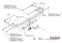 Tažné zařízení HAK-POL RENAULT Grand Scenic II, r.v. 04/04-xx - pevné