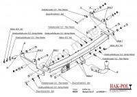 Tažné zařízení HAK-POL RENAULT Clio III HTB, r.v. 09/05-12 - pevné