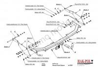 Tažné zařízení HAK-POL RENAULT Grand Espace, r.v. 02-xx - pevné