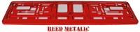 Podložka SPZ světle červená metalíza