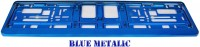 Podložka SPZ světle modrá metalíza