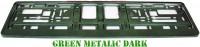 Podložka SPZ tmavě zelená metalíza