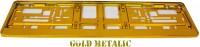 Podložka SPZ zlatožlutá metalíza