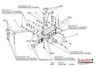 Tažné zařízení HAK-POL VOLVO S 40, r.v. 04-xx - pevné