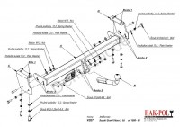Tažné zařízení HAK-POL SUZUKI Grand Vitara, r.v. 98-04 - pevné