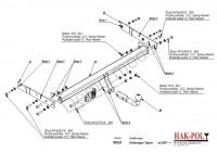 Tažné zařízení HAK-POL VOLKSWAGEN Tiguan, r.v. 07-xx - pevné